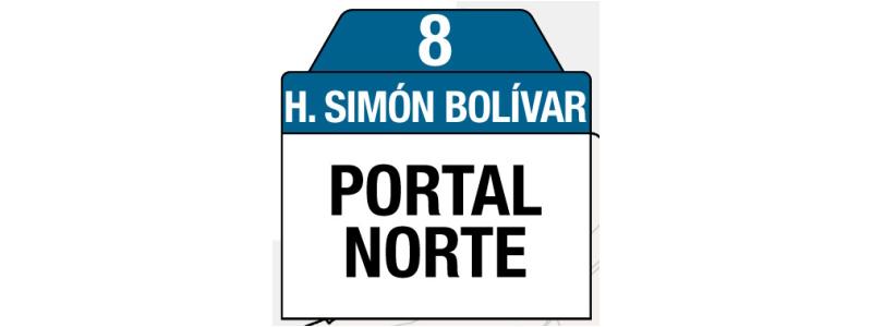 Ruta 8 – Hospital Simón Bolívar (profesionales y trabajadores sector salud), rutero, tablas y letreros