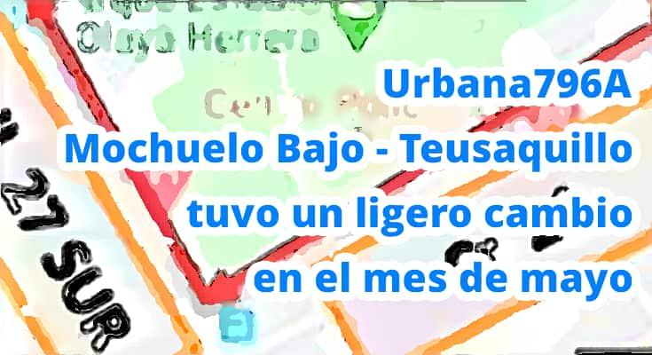 Cambios ruta ruta 796A Mochuelo Bajo - Teusaquillo