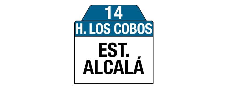 Ruta 14 - Hospital Los Cobos, letrero tabla bus del SITP