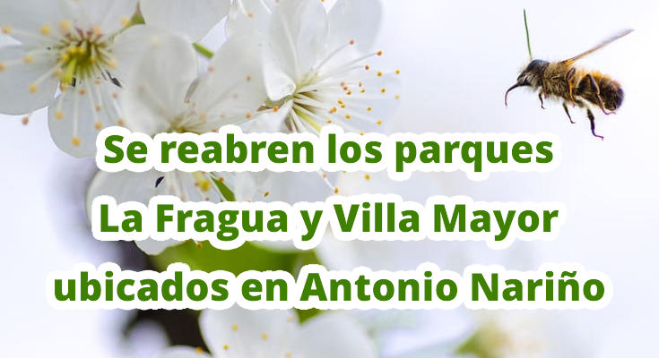 Se reabren los parques La Fragua y Villa Mayor el domingo 30 de agosto