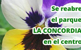 Reapertura del parque La Concordia en la Candelaria, ubicado en el centro de Bogotá