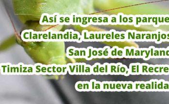Se reabren los parques Clarelandia, Laureles Naranjos, San José de Maryland, Timiza Sector Villa del Río, El Recreo
