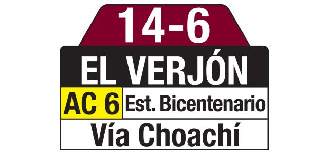 Tablas Ruta SITP 14-6 El Verjón, especial