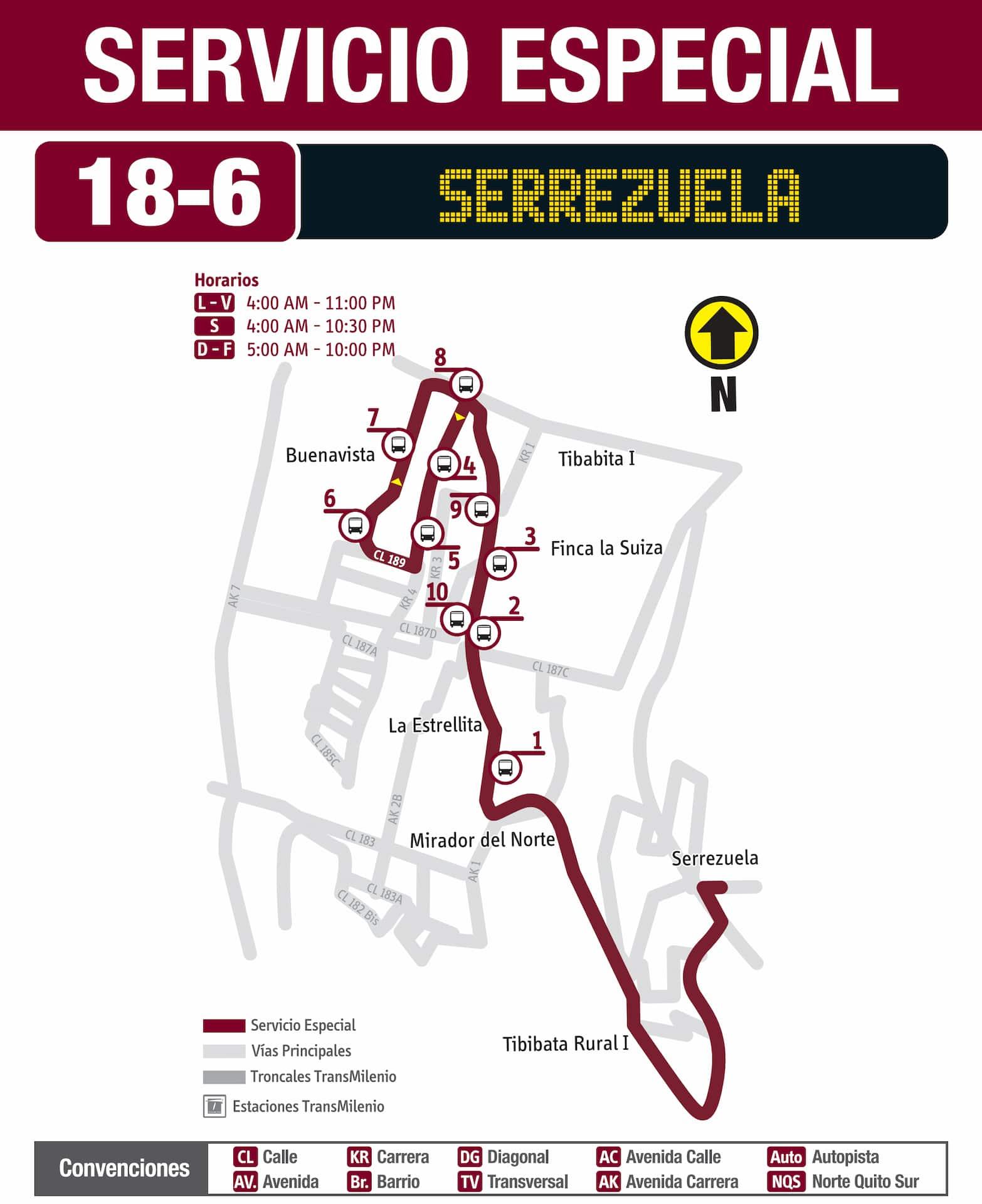 Servicio Especial 18-6 Serrezuela