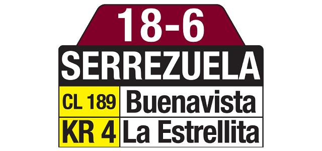 Tablas Especial 18-6 Serrezuela