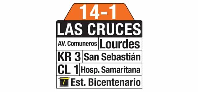 Tablas 14-1 Las Cruces (ruta complementaria - SITP)
