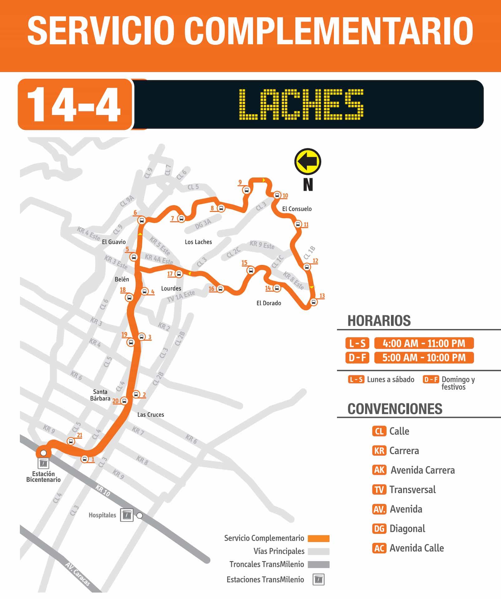 14-4 Laches (ruta complementaria - SITP)