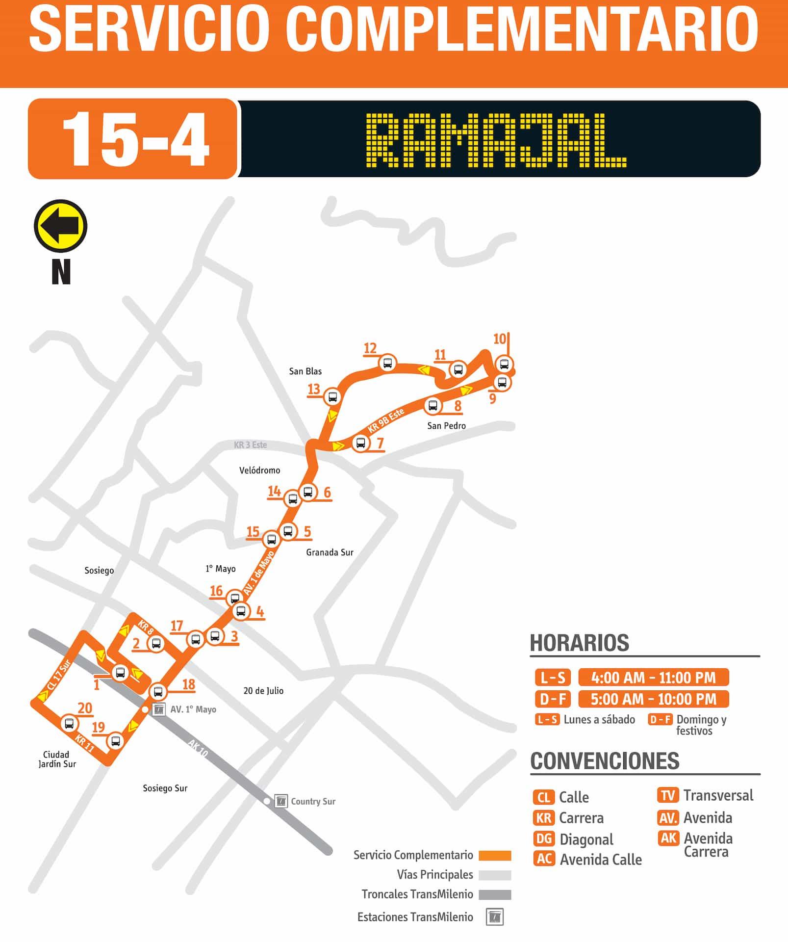15-4 Ramajal (ruta complementaria - SITP)