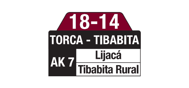 Tablas ruta SITP 18-14 TorcaTablas ruta SITP 18-14 Torca