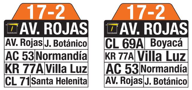Rutero Ruta SITP 17-2 Santa Helenita, complementaria